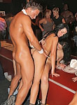 Wet and drunken horny girls give head with passion at party