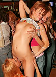 Beautiful chicks getting penetrated at dirty hardcore party