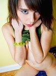 Skinny little teen ariel shows off her tight little teen snatch