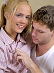 Beautidul blonde teen Jenny Heart has her trimmed box drilled