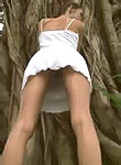 :: BROOKE SKYE :: Stunning Teen Brooke flashing her pussy at a public park