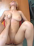 Lubed up slut accepts four fingers in her tight asshole