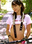 Hot teen ariel rebel takes off her clothes during her bike ride