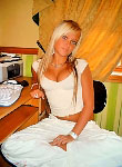 Blonde coed teen strips off indoors and posing for the camera